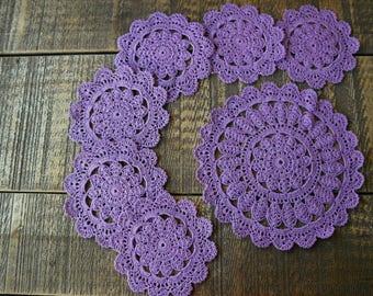 Napkins for hot, crocheted/ салфетки для горячего, вязанные крючком