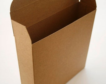 Brown Kraft Boxes DIY - set of 30 - Perfect with Twine or Deco Tape - Packaging - 6 x 1.5 x 6 Inches