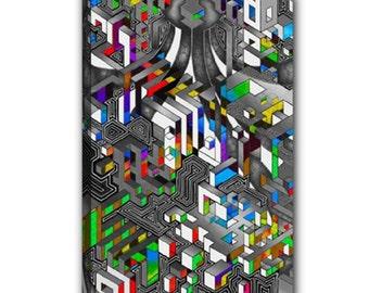 "Wrapped canvas 12""x18"" - Interdimensional (Noise VS Beauty)"