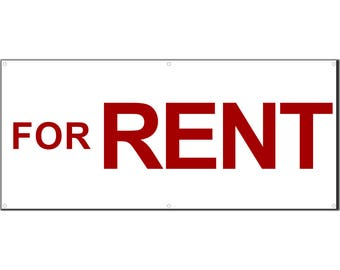 For Rent Vinyl Banner Single Sided with Grommets