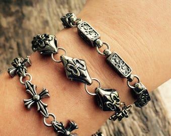 Fleur-de-lis Link Bracelet
