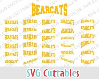 Bearcats svg, bearcats layouts, svg, eps, dxf, bearcats mascot, svg cuttables, silhouette file, cricut cut file, digital download
