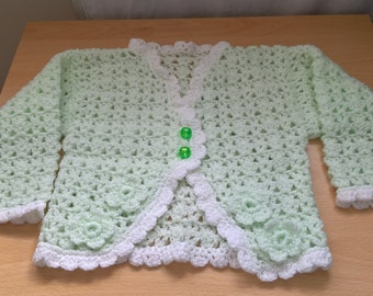 Girl's crocheted cardigan set