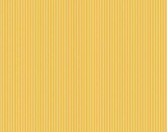 Riley Blake Yellow Striped Fabric, Yellow and White Striped Cotton Fabric