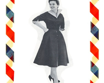 Vintage Sewing Pattern in any size including plus size 1949 PDF Instant Download Pattern no 71