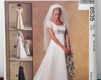 McCall's 8635 Alicyn Empire Wedding Gown Pattern