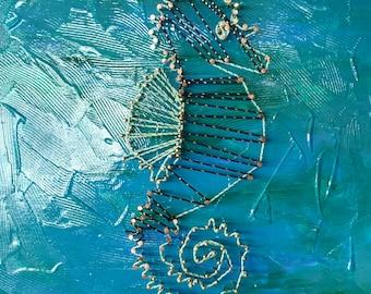 String Art Seahorse