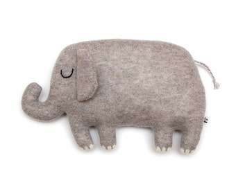 Egbert Elephant Plush Knitted Lambswool Toy - Made to order