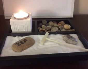 Zen Garden with Tealight Candle
