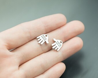24 Hand Made Hand Charms 12mm- 1243-0073