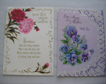 Two Glittery Mother's Day Cards