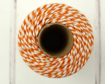Orange Baker's Twine - Orange and White Twine - Everlato Baker's Twine - Halloween Twine - Orange Butcher's Twine - Cotton Twine