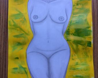 Woman in nude