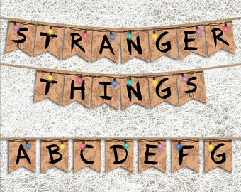 Stranger Things™ Inspired Banner | PRINTABLE Party Supplies | Stranger Things™ Inspired Party Banner | TV Series Decoration | Birthday Party