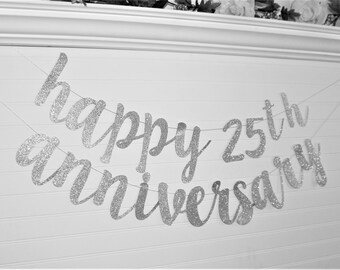 WEDDING ANNIVERSARY BANNER - Happy Anniversary Banner - Custom Anniversary Banner - Anniversary Party Decoration - Anniversary Party - G6
