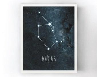 Auriga Constellation Art Print