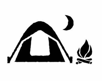 Camping Decal | Trees Camper Decal  | Trailer Camping Vinyl Decal | Trees Woods Camper Decal | Camping Decals Woods Tree Decal