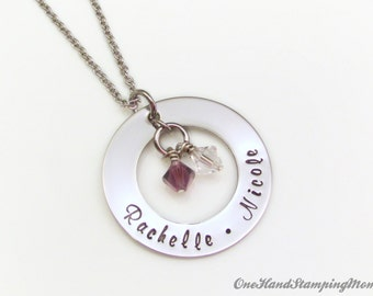 Hand Stamped Jewelry - Personalized Necklace - Personalized Mom Necklace - Hand Stamped Necklace - Mom Necklace - Nana Necklace
