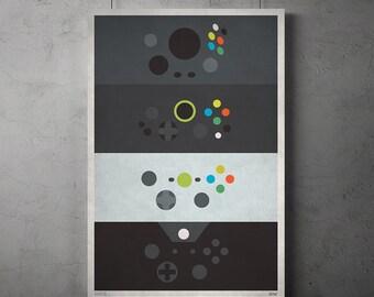 Microsoft Xbox Controller Minimalist Poster