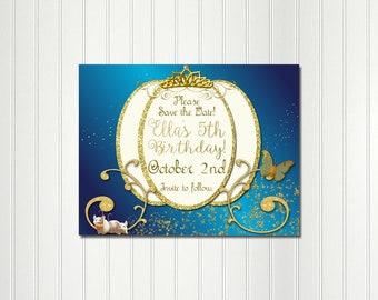 Cinderella Save the Date, Cinderella Party, Princess Party, Save the Date, Cinderella, Princess, Carriage,