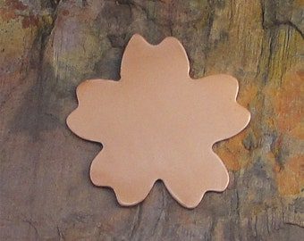 "10 Deburred 24G Copper 1"" inch FLOWER Stamping Blanks"