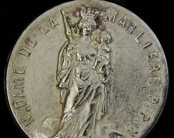 Vintage Notre Dame de la Marliere French Medal Medaille