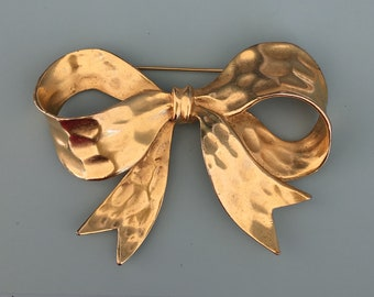 Vintage Signed P.E.P Large Bow Brooch
