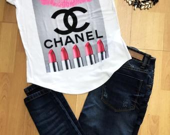 Lipstick Paris chanel woman t-shirt Statement Tee,Graphic Tee, Statement T-shirt,Graphic Tshirt