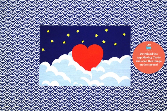 The VALENTINE // LOVE Animated Card - Moving Cards that comes to life  in augmented reality