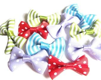 10 mixed fabric bow