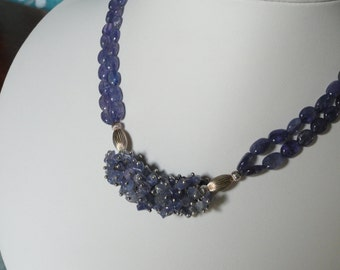 Tanzanite Necklace and Earring Set  -   #420