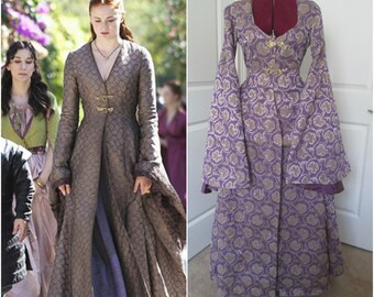 Sansa Stark Gown; Game Of Thrones Costume; GoT Cosplay; Medieval Gown; Houppelande Gown; Renaissance Gown