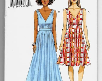 V9053 Vogue Dress Sewing Pattern Sizes 14-22 Very Easy Vogue