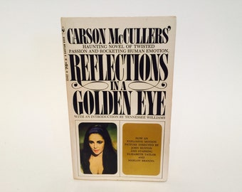 Vintage Pop Culture Book Reflections in a Golden Eye by Carson McCullers 1967 Movie Tie-In Edition Paperback