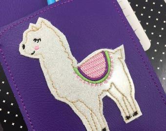 Llama Pen Holder planner band -planner accessories - pen pocket holder -best gifts for her -fits happy, erin condren, mambi, bullet journals