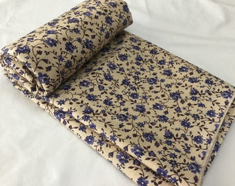 Dreamy blue floral fabric