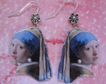 Girl With a Pearl Earring by Famous Painter Johannes Vermeer Earrings