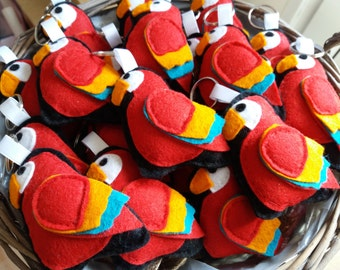 Parrot Keyring, Parrot Gift, Bird Keyring, Bird Gift, Australian Keyring