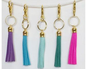 Tassel Keychain, Bag Swag, Choose Your Color Tassel, Simple Keychain, Leather Tassel Key Chain, Tassel Key Chain, Gold Tassel Key Chain,