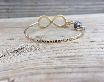 Stamped Infinity Bangle