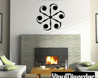 Snowflakes Vinyl Wall Decal Or Car Sticker - Mv024ET