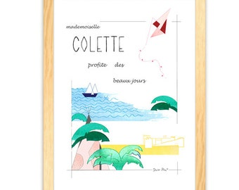 PERSONALIZED poster - Miss enjoys sunny days