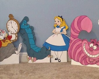 1 ONE 2ft Alice in Wonderland cutout/standee/prop. (choose any character not just the ones listed)