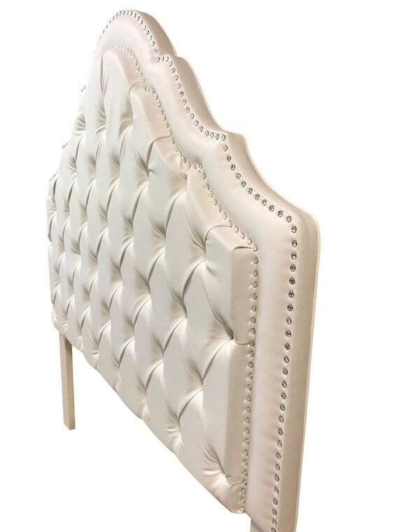 Blanco de cama blanco cabecero tapizado cabecero copetudo