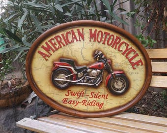 Motorcycle Sign/Hobby Sign/Man Cave /She Shed/Wall Art