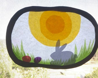 Waldorf inspired,Easter transparency