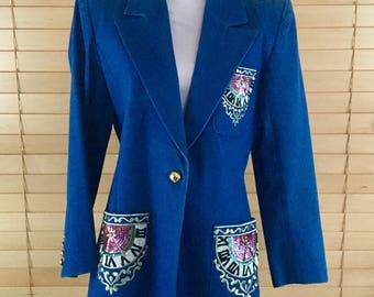 Lew Magram Deadstock Ladies Beaded Sequined Jacket