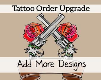 Mettez à jour votre commande de tatouage: Personnalisation de texte de 1 tatouage tête ronde supplémentaire--ou--soumettre 1 conception supplémentaire de votre choix