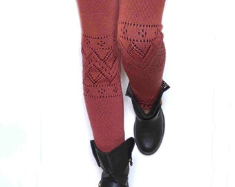 Long  Leg warmers /Ballet dance leg warmers/ Urban clothing / Knit leg wear / Woman leg warmers