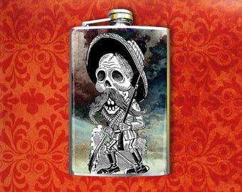 Flask 8oz Old Skeleton Man #369